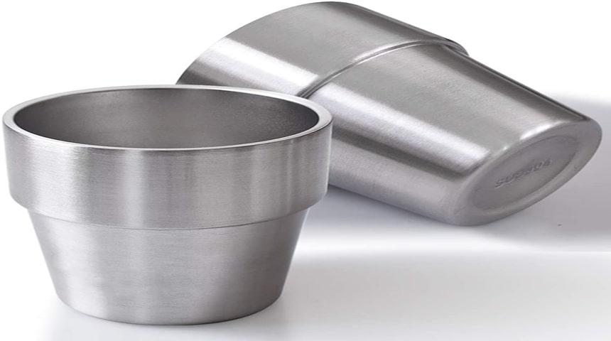 vasos de acero para tienda camping
